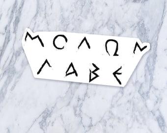 Molon Labe ΜΟΛΩΝ ΛΑΒΕ μολὼν λαβέ Greek Leonidas 300 Thermopylae Saying Phrase Temporary Fake Tattoo Black Small Medium Size