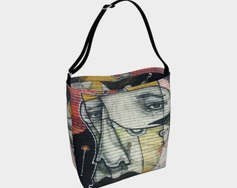 51939ad85b The Face Street Art Tote Bag
