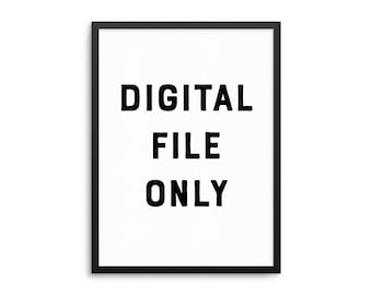 Digital Download Only - Print At Home Poster - Do It Yourself DIY Printable