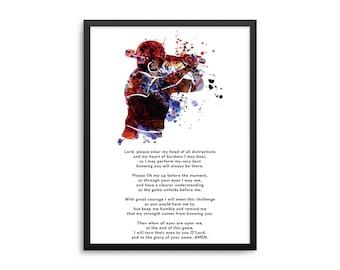 Christian Athlete Baseball Prayer Poster - Softball Prayer Wall Art