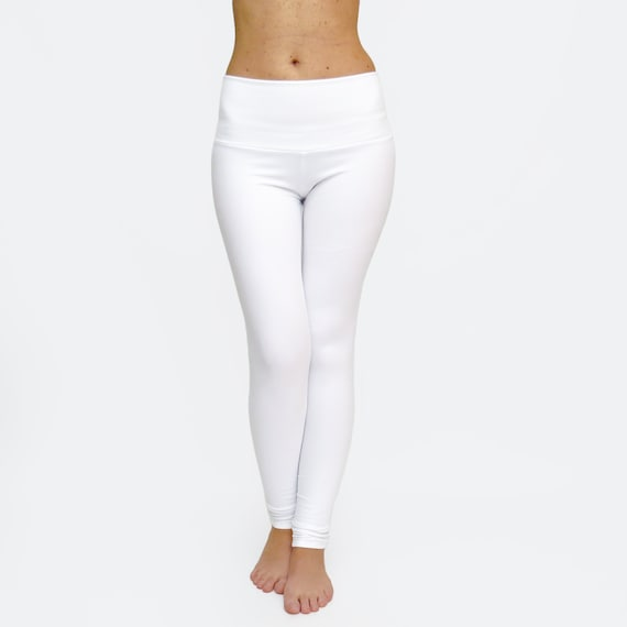 outlet sale a few days away new arrive White Leggings / White Yoga Pants / Workout Tights / Yoga Clothes / High  Waisted Legging / White Dance Pants / Extra Long Leggings