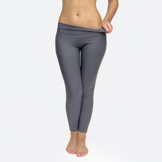 Grey Leggings Crop Yoga Pants Running Tights Custom Yoga