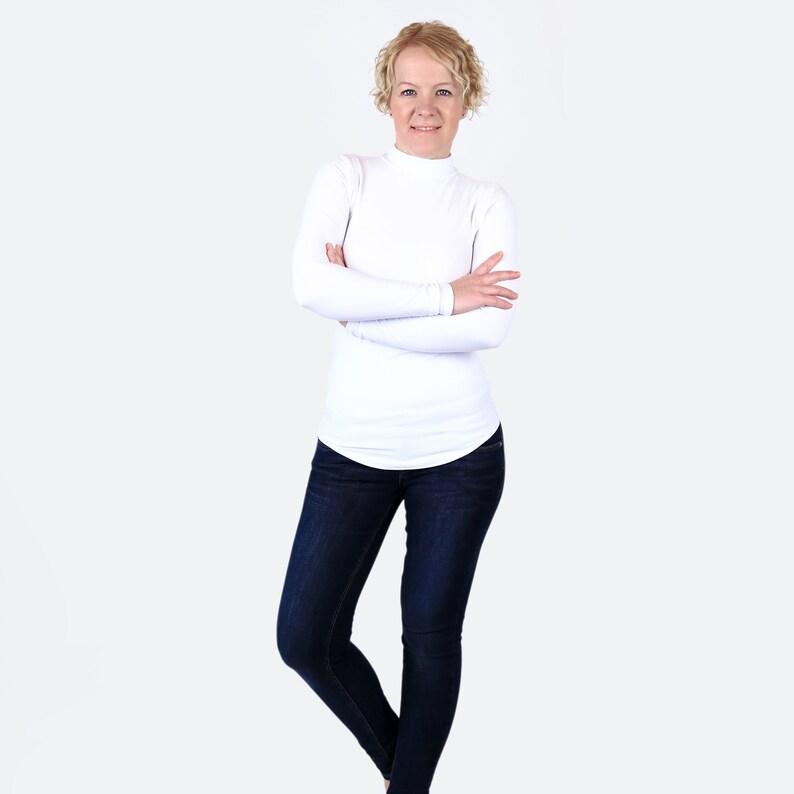 cadc8a8c328 White Turtleneck / White Shirt / Mock Neck Sweater / White Top | Etsy