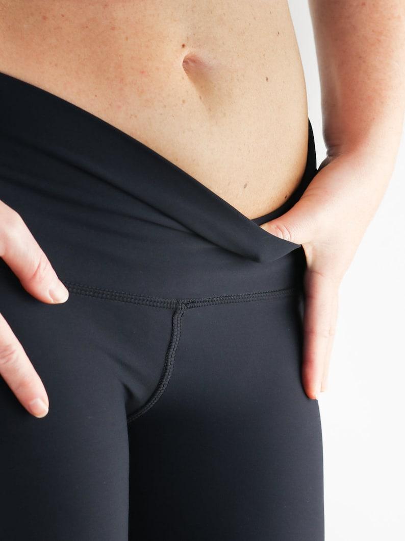 White Yoga Pants  White Leggings  Workout Wear  Fitness Clothing  Low Rise Leggings  Yoga Capris  Gym Leggings  White Pants