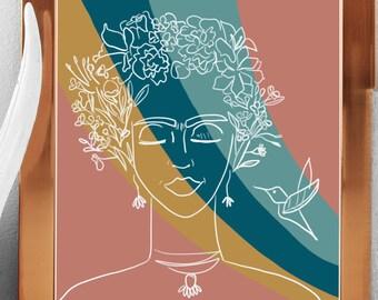 Frida Kahlo Modern Art DIGITAL FILE PRINTABLE only