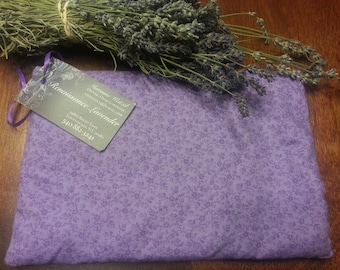 Lavender scented heated Warming Pillow heating pad for stress, pain, joint relief or as a sleep aide