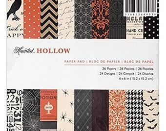 American Crafts Haunted Hollow 6x6 Halloween Scrapbook Paper Pad