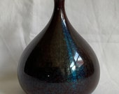 An outstanding antique Japanese bronze enameled vase, signed