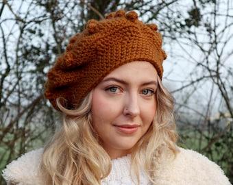 Evie Beret Hat Crochet Pattern *pdf digital download*