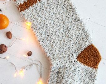 Crochet Tweed Christmas Stocking Pattern * Instant download (Pdf)
