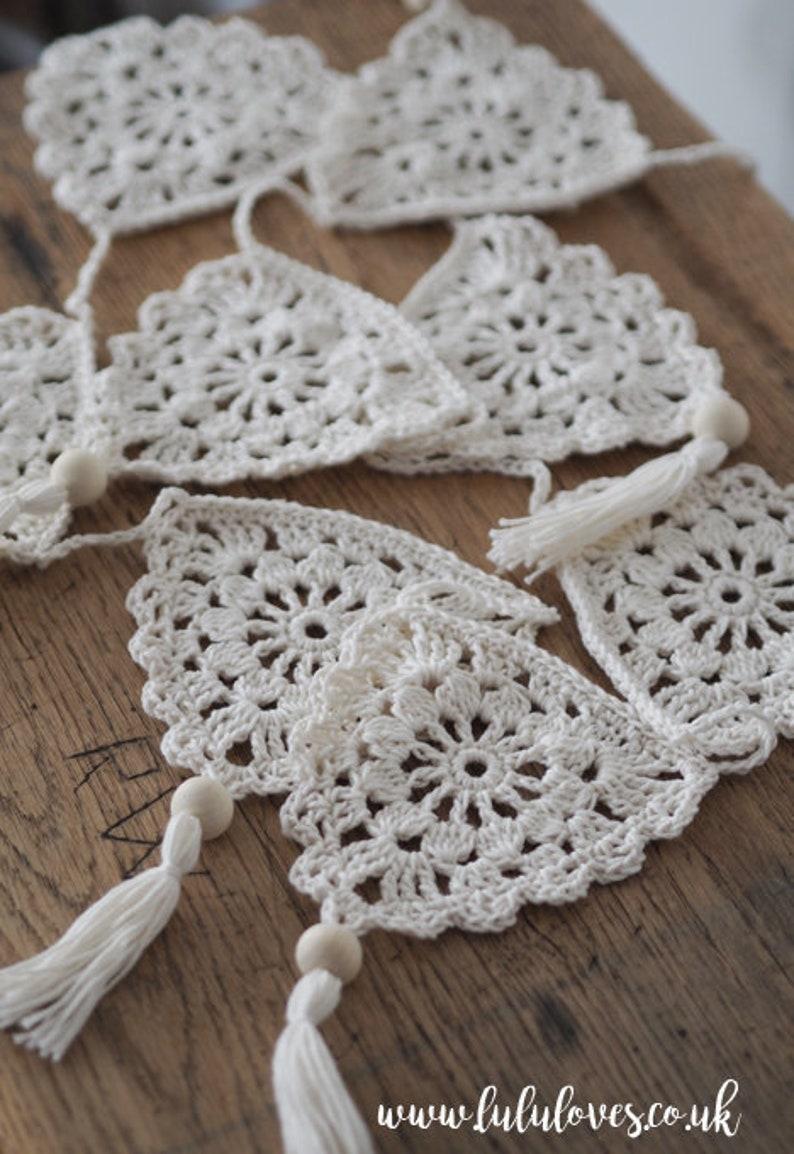 Boho Bunting Crochet Pattern Pdf digital download image 0
