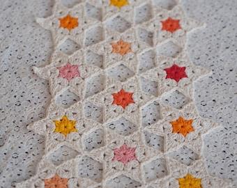 Crochet Star Posy Table Runner Pattern *PDF Digital Download*