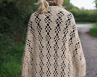 Courtship Shawl - Crochet Shawl PDF pattern