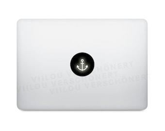 apple sticker macbook ANCHOR decals anchors computer stickers apple logo motifs anchors illustration