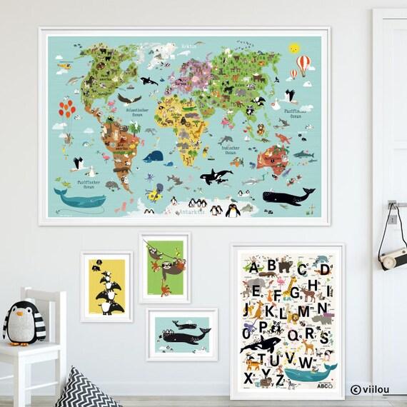 Wandtattoo EULEN Kinder Wandsticker Kinderzimmer Bilder Eulen Wandaufkleber  Kind Wandbilder Eulen Wandsticker Kinder Illustrationen viilou
