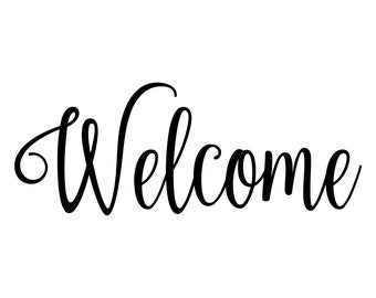 Welcome Lettering Etsy