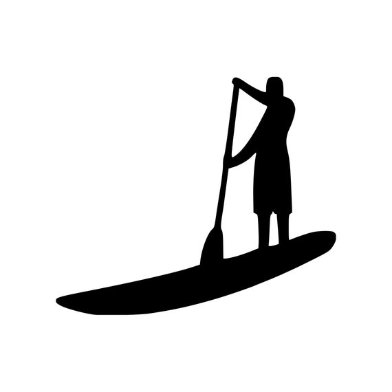Dark Colors Stand Up Paddle Board Vinyl Decal Sticker in