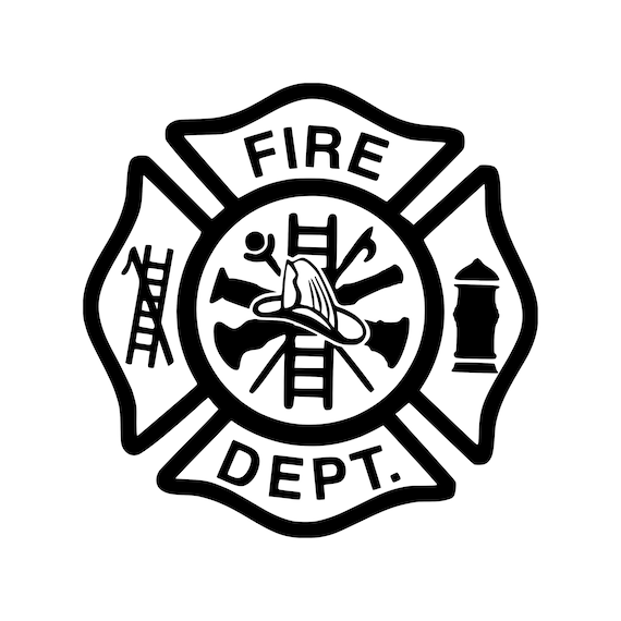 Firefighter Maltese Cross Sticker Decal for Car Truck Auto Chrome Metal Emblem