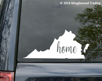 "Virginia State vinyl decal sticker 7"" x 3"" VA Home RVA *Free Shipping*"
