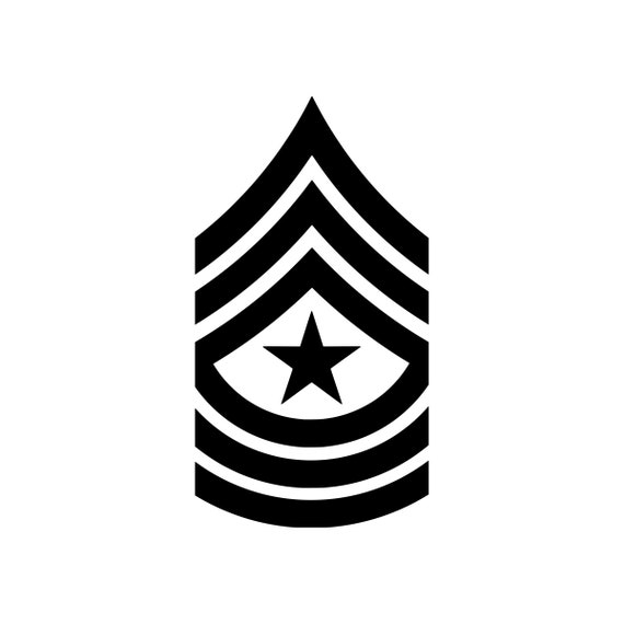 E-6 Staff Sergeant US Army Rank Sticker Die Cut Decal SSG OR-6 E6
