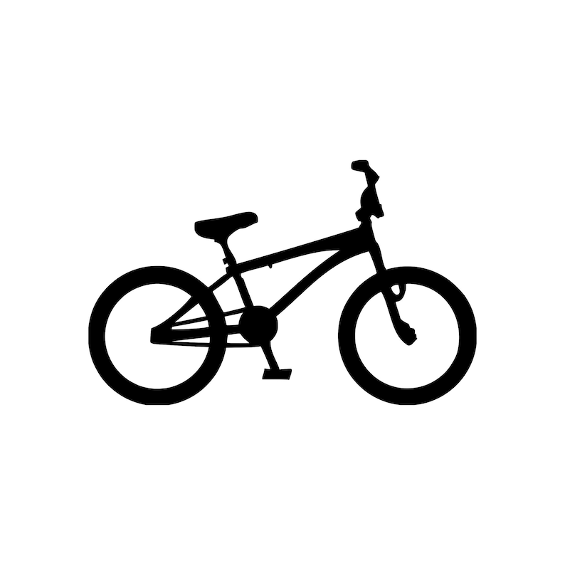 3a5a9c44b2a BMX Bike Vinyl Decal Sticker Bicycle Racing Freestyle Free | Etsy