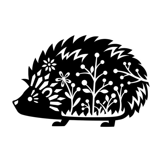 Hedgehog Vinyl Decal Sticker Desert African Pygmy Daurian Etsy
