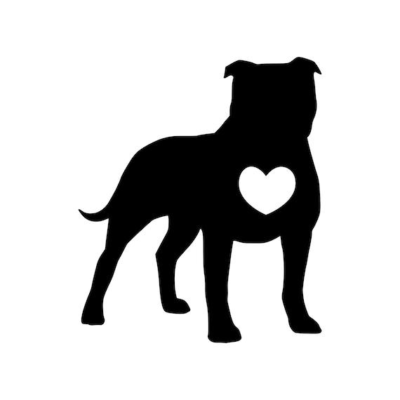 I love my PITTBULL dog heart decal sticker pet animal breed puppy pit bull