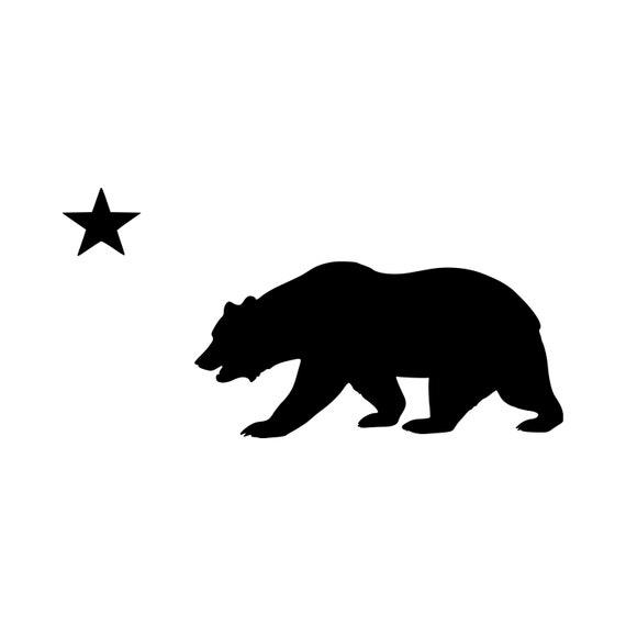 Flag of California Bear Cali Republic Star Decal Sticker Vinyl Car Window Wall