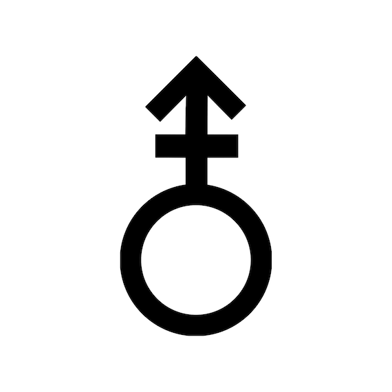 ANDROGYNOUS GENDER Vinyl Decal Sticker - Symbol Sign Androgyny *Free  Shipping*