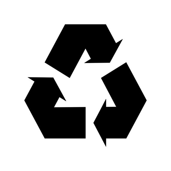 REUSE REDUCE RECYCLE 8 INCH Vinyl Decal Sticker
