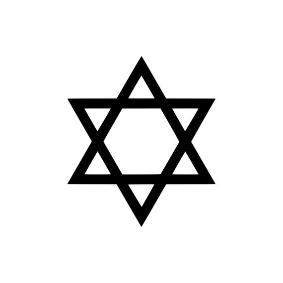 Small Star of David Shield Magen Judaism Phone Window Vinyl Decal Sticker
