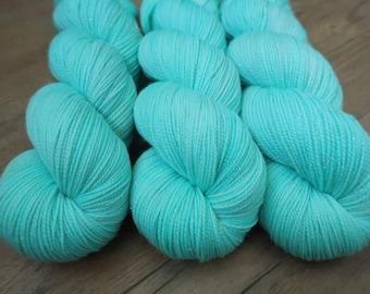 Sea Breeze ~Gold Sparkle Sock~ SW Merino/Nylon Hand dyed sock yarn,100gr Fingering weight wool