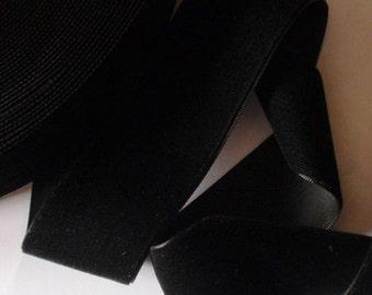 3 yards 1.5 inches Velvet Ribbon in Black RY15-003