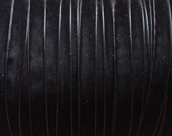 10 yards 3/8 inches Velvet Ribbon in Black RY38-03