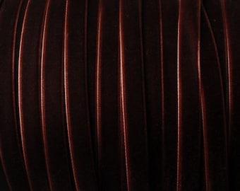 10 yards 3/8 inches Velvet Ribbon in Dark Brown RY38-119