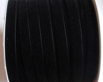 7 yards 1/2 inches Velvet Ribbon in Black RY12-03
