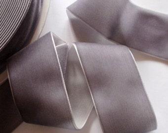 3 yards 1.5 inches Velvet Ribbon in Dark Gray RY15-189