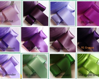 10 yards 2 inches Single Face Satin Ribbon You Choose Colors DM15-02