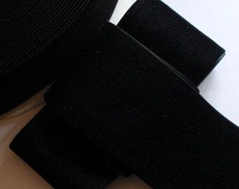 3 yards 2 inches Velvet Ribbon in Black RY20-03