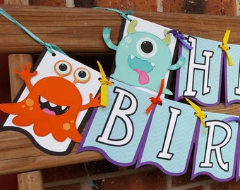 Silly Monsters Birthday Banner