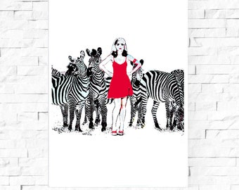 Parallel Lines Limited edition print signed by Eduardo Luzzatti Blondie