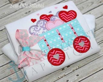 LOVE WAGON machine embroidery design
