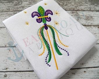 MARDI GRAS WAND machine embroidery design