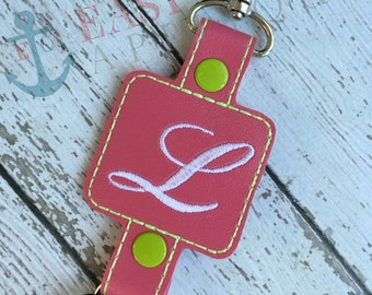 SQUARE DOUBLESNAP KEYFOB machine embroidery design