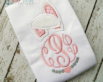 BUNNY GIRL EARS machine embroidery design