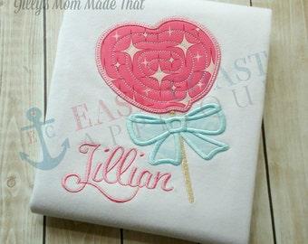 HEART LOLLIPOP machine embroidery design