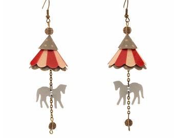 Merry Go Round Horse Earrings