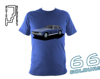 Jensen Interceptor / FF Mk2 PERSONALISED T-Shirts by AutoRenders - 66 Colours - S/M/L/XL/2XL/3XL* - Unisex - Shirt & Car Colour Match!