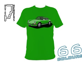 Porsche 911 Carrera 2.7 RS PERSONALISED T-Shirts by AutoRenders - 66 Colours - S/M/L/XL/2XL/3XL* - Unisex - Shirt & Car Colour Match!