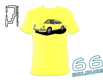 Porsche 911 Classic PERSONALISED T-Shirts by AutoRenders - 66 Colours - S/M/L/XL/2XL/3XL* - Unisex - Shirt & Car Colour Match!
